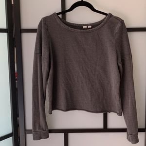 Melrose and Market Gray Long Sleeve Sweater